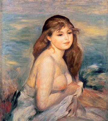 The Blonde Bather, c.1887, 60x53.5 cm