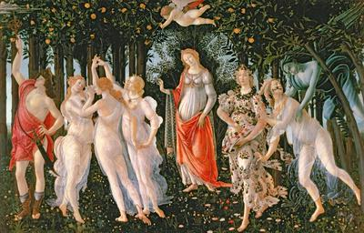 Primavera, c.1478, (tempera on panel), 203x314 cm