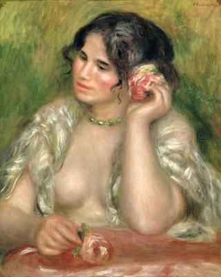 Gabrielle with a Rose, 1911 (oil on canvas), 55.5x47 cm