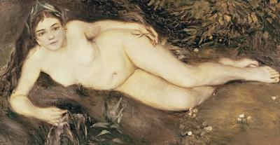 A Nymph by a Stream, 1869-70 (oil on canvas), 66.7x122.9 cm