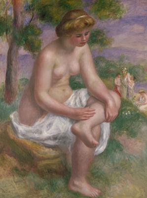 Seated Bather in a Landscape or, Eurydice, 1895-1900 (oil on canvas), 116x89 cm