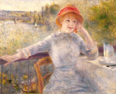 Alphonsine Fournaise (1845-1937) at The Grenouillere, 1879 (oil on canvas), 73.5x93 cm