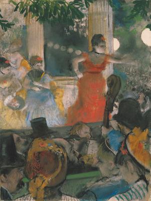 Cafe Concert at Les Ambassadeurs, 1876-77 (pastel on paper), 37x26 cm