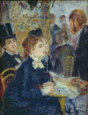 At the Cafe, c.1877, 35x28 cm