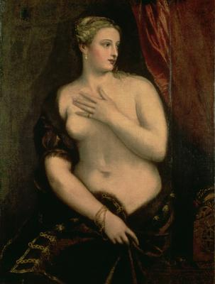 Venus Contemplating Her Reflection in a Mirror (oil on canvas),