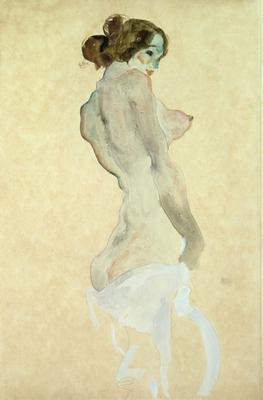 Standing Female Nude, 1912 (w/c on paper), 48x31.5 cm