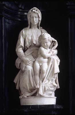 Madonna and Child, commissioned in 1505 by Jan van Moescroen, given to the church in 1514 or 1517 (marble),