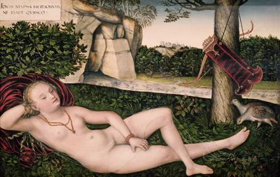 Diana Resting, or The Nymph of the Fountain, 1537 (oil on panel), 48x74 cm