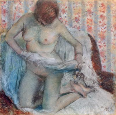 After the Bath, 1884 (pastel on paper),