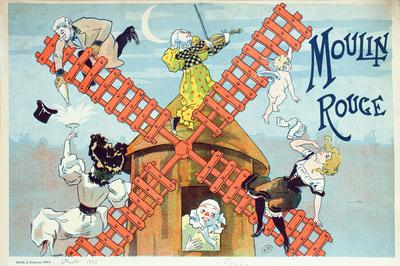 Cover of a programme for the Moulin Rouge, 1896 (colour litho),