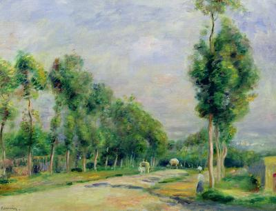 The Road to Versailles at Louveciennes (oil on canvas),