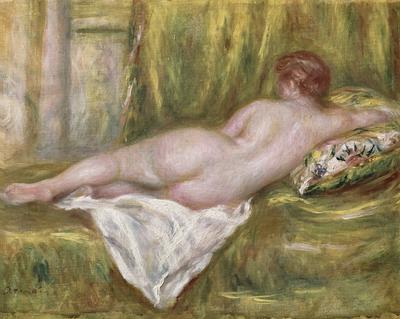 Reclining Nude from the Back, Rest after the Bath, c.1909 (oil on canvas), 41x52 cm
