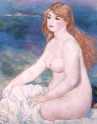 Bather (Blonde Bather II) 1882 (oil on canvas), 90x63 cm