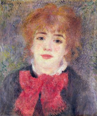 Portrait of Jeanne Samary (1857-90), 1877 (oil on canvas),