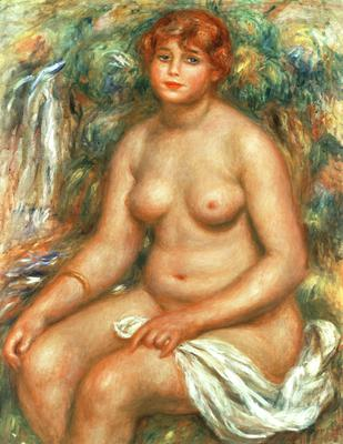 Seated Bather, 1916 (oil on canvas), 83x65 cm
