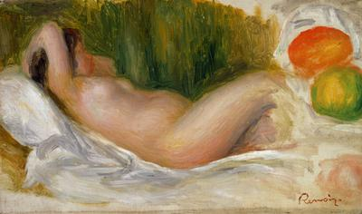 Reclining Nude (oil on canvas), 20x32.4 cm