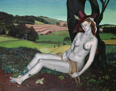 Mrs Samuelson as Venus, after Cranach, Kent, 1939 (oil on board), 69x59 cm