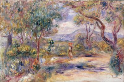 Paysage a Cannes (Renoir's Garden) c.1914 (oil on canvas), 20.2x44.1 cm