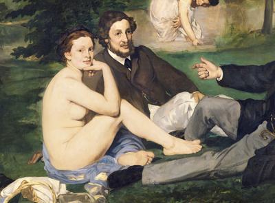 Dejeuner sur l'Herbe, 1863 (oil on canvas) (see also 65761) (detail of 2310), 208x264 cm