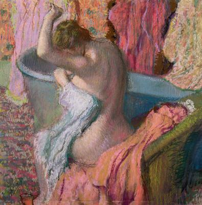 Seated Bather, 1899 (pastel on paper), 51x51 cm