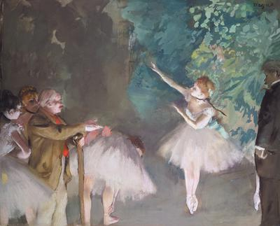 Ballet rehearsal (pastel and oil),