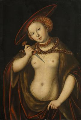 Lucretia (oil on panel), 56.5x39.3 cm