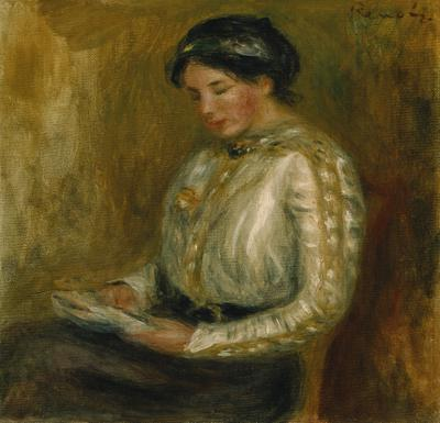 Woman Reading (oil on canvas),