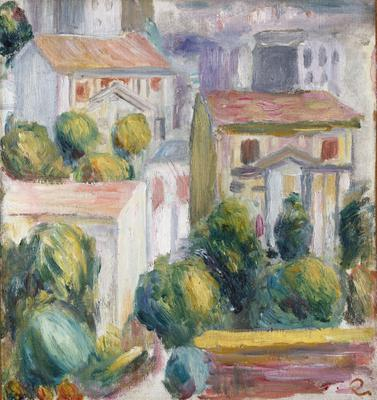 House at Cagnes (oil on canvas),