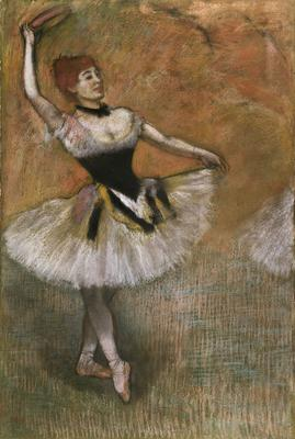 Dancer with Tambourine, c.1882 (pastel on paper laid down on board),