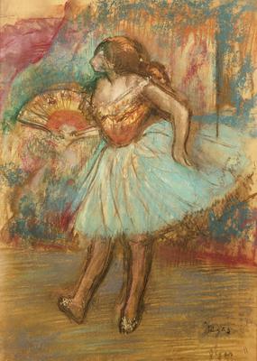 Dancer with a Fan, c.1895-1900 (pastel),