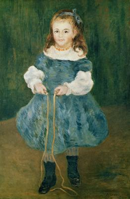 Girl with a skipping rope, 1876 (oil on canvas),