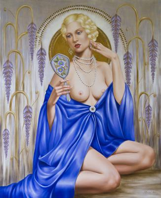 Rhapsody in Blue (oil on canvas),