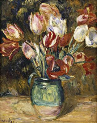 Vase of flowers, 1888-89 (oil on canvas), 40.5x32 cm
