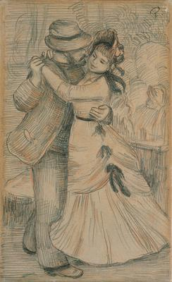 The Country Dance, 1883 (pencil & chalk on paper), 23.2x14.2 cm
