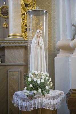Statue, Virgin Mary, Aglona Basilica interior, Aglona, Latgalia, Latvia