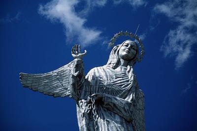 Statue, Virgin Mary, Quito, Ecuador, South America