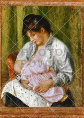 Mother and Child (before restoration) ; Painting,