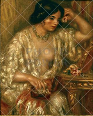 Gabrielle with Rose ; Painting,