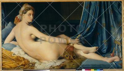 La Grande Odalisque (The Large Odalisque), 1814 ; Painting, Oil on canvas. cm 91 x 162.-