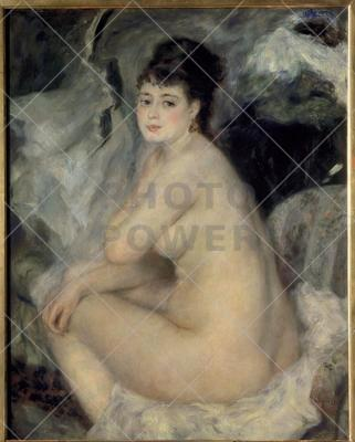 Seated Nude Woman ; Painting,