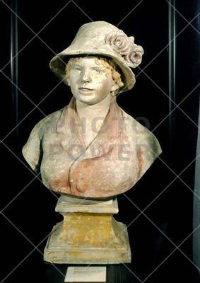 Bust of Madame Renoir ; Sculpture,