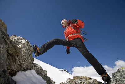 Klettern am Berg Mountain Climbing