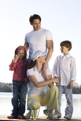 Family at a Lake